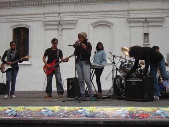 Cancert in Plaza San Francisco-Quito.